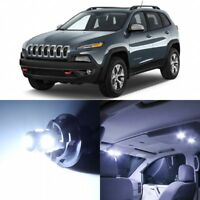 14 x Xenon White Interior LED Lights Package For 2014- 2018 Jeep Cherokee  +TOOL