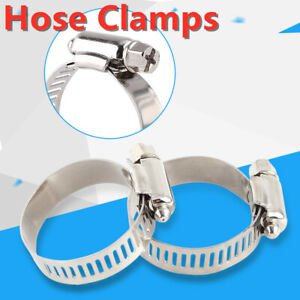 10PCS Screw Band Worm Drive Hose Clamps 304 Stainless Steel Tube Pipe Clips