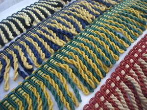 Bullion Fringe, Cords, Upholstery Chunky 10/12cm, 4 col