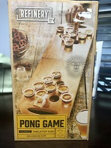Refinery Wooden Pong Game Table Top Mini Pong