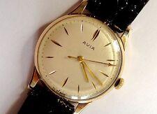 Avia 9ct Gold Watch 15 Jewels 1960s Swiss Working Vintage Retro