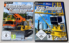 2 PC SPIELE SET - KRAN & BAUMASCHINEN SIMULATOR 2009 2012 - BUNDLE - CD ROM