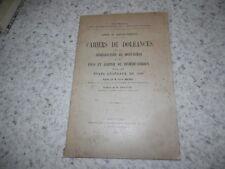 1925.Cahiers doléances Montauban & Jugerie de Rivière-Verdun.1789.Malrieu
