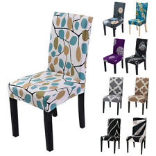 Floral Stretch Dining Chair Cover Slipcover Wedding Banquet Seat Cover Removable