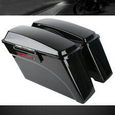 For Harley Davidson SaddleBags 1993-2013 Hard Bags with Latches Vivid Black 1994