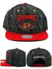 Chicago Blackhawks New Mitchell & Ness NHL Cement Gray Red Era Snapback Hat Cap