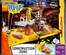 MATCHBOX POP UP CONSTRUCTION ZONE ADVENTURE PLAYSET FOLD N' GO BRAND NEW