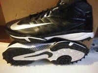 Nike Air Vapor Pro 3/4 Destroyer Football Turf Shoe Cleats Size US 16 Black