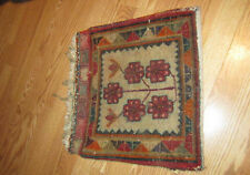 Old Bedouin Tribal Kilim Carpet Rug with Tassels Camel Saddle Bag