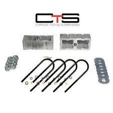 "2"" lowering blocks chevy S10 drop kit & rear axle u bolts GMC Sonoma aluminum"