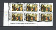 NEW ZEALAND 1984 CHRISTMAS SET OF 3 IN PLATE BLOCKS MNH