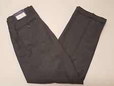 NWT Club Room VTG Made in Korea 100% Wool Pleated Charcoal Dress Pants 34x30