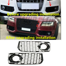 Fit For AUDI S5 A5-SLine 2008 2009 2010 2011 Black Trim Fog Lamp Grilles RS Look