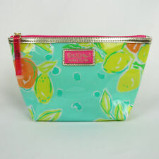 Lilly Pulitzer Estee Lauder Plastic Cosmetic Makeup Purse Clutch Bag GREEN