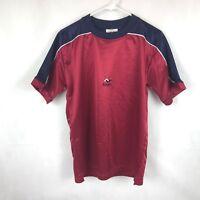 Kojon men's shirt athletic Short Sleeve top red blue L/S small