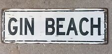 Gin Beach Montauk NY Surf Surfing The Hamptons Vintage Metal Sign Home Decor