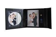 Black USB case presentation box DVD/CD case, box. 2D. Wedding, Christening