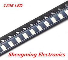 100pcs 1206 Blue LED lamp beads super bright SMD LED