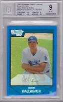 AUSTIN GALLAGHER 2007 BOWMAN CHROME DRAFT PICKS BLUE REFRACTOR #020/199 BGS 9