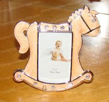 Baked Enamel Baby Rocking Horse Frame (3655) Bejeweled, 2x3 Photo