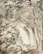 JMW Turner Drawing: A Waterfall:  Fine Art Print