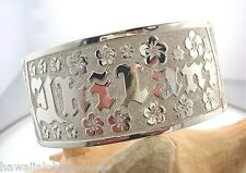 50MM FEH HAWAIIAN STERLING SILVER CUSTOM MADE ENGRAVED PERSONALIZED BANGLE 9.0