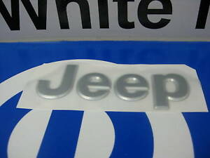 97-05 Jeep Grand Cherokee New Chrome Decal Emblem Nameplate Mopar Factory Oem