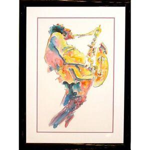 """Jazz Musician"" by Michael Smiroldo Watercolor on Paper"