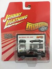 Johnny Lightning Muscle Cars 1969 69 Pontiac GTO Judge Black Die cast 1/64 Scale