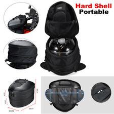 Motorcycle Hard Shell Helmet Bag Riding Luggage Tail Box Rear Seat Top Box Bag