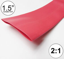 """1.5"""" ID Red Heat Shrink Tube 2:1 ratio wrap (2x24"""" = 4 feet) inch/ft/to 40mm"""