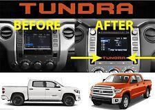 (2) Inferno Orange Vinyl Inserts For 2014-2017 Toyota Tundra Radio Bezel New USA