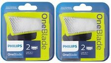 2 x Philips OneBlade QP220/50 Replaceable Blade Head - BEST PRICE!! = 4 Blades