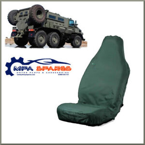 3D STRETCH GREEN FRONT SEAT COVER FOR JEEP, VAN, 4x4 (KHAKI GREEN)
