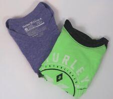 2x Mens Hurley The Buckle Shirt Graphic 3/4 Sleeve Short Sleeve Tee Shirt Medium