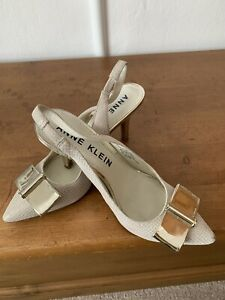 Anne klein Nude And Silver Shoes 7