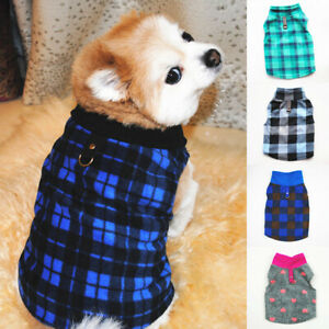Warm Dog Clothes Coat Fleece Thicken Chihuahua Pet Puppy Clothes Small Dog Vest