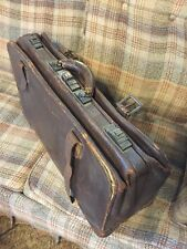 Doctors Bag 1800's Fine Brass Hardware Leather Vintage Antique