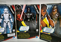 Lot of 3 Star Wars Galaxy of Adventure Figures Chewbacca Darth Vader Jet Trooper