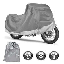 Motorcycle Cover Waterproof Outdoor Motorbike All Weather Protection (M)