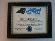 Carolina Panthers True Fan ~ Certificate ~ Diploma ~ Fun ~ Man Cave ~ Must Have
