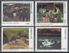 Føroyar / Färöer Nr. 223-226** 85.Geburtstag von Sàmal Joensen-Mikines / Gemälde