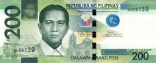 200 PHP Philippine pesos NGC (new style) crisp uncirculated bills currency