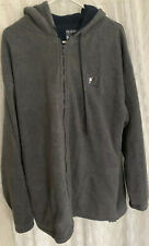 Big Dog Fleece Full Zip Jacket Gray Mens XL Great Condition Condition Hooded