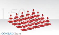 """1:50 Scale Conrad Traffic Cones, Red & White  """"Brand New"""" Code 3"""