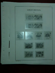 LIGHTHOUSE Commemorative Hingeless album pages Great Britain 1986-89 Used (8906)