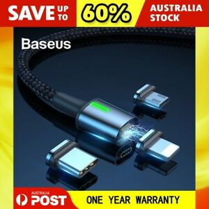 Baseus Zinc Magnetic Fast Charging Data Cable for Type-C Micro USB Apple iPhone