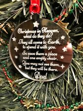 Memory Bauble Personalised Christmas in Heaven Tree Decoration Personalized