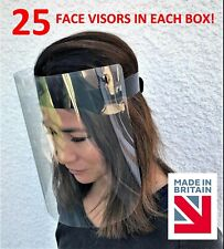 Full Face Visors/Face Shields - ONLY £1 EACH (25 Visors per box) PPE UK made