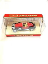 Matchbox Yesteryear YY014 A/C 1931 Stutz Bearcat in Red on Black Chassis  MIB